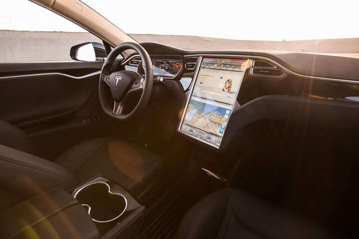 Interior do Tesla Model S P85D